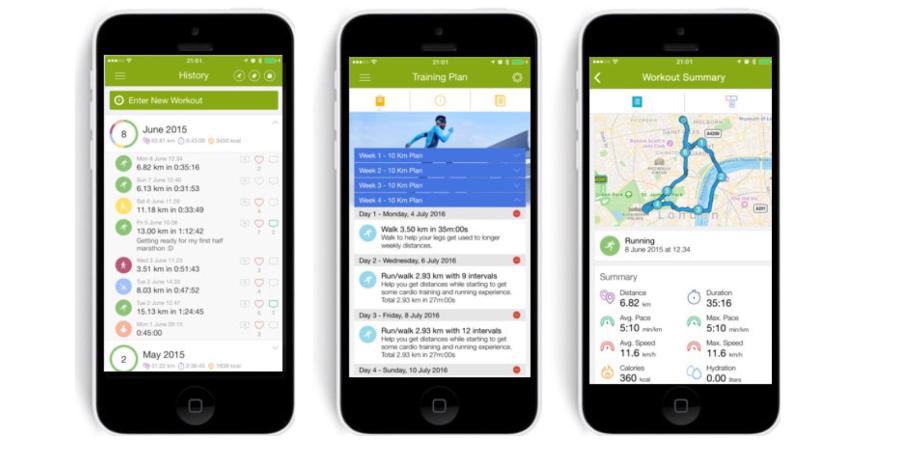 Endomondo - ứng dụng ghi lại hành trình chạy bộ